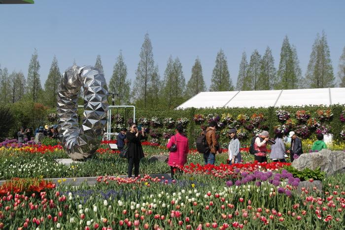 꽃박람회 야외꽃밭