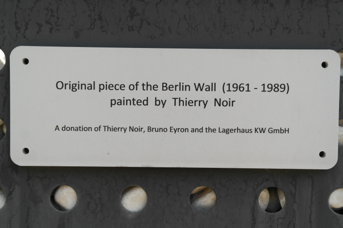 Original piece of the Berlin Wall (1961~1989) painted by Thierry Noir A donation of Thierry Boir, Boruno Eyron and the Lagerhaus KW GmbH