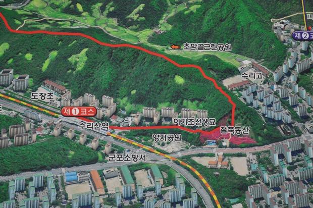 철쭉동산 주변 지도