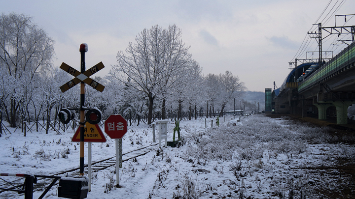 고잔역 앞 옛 협궤철로
