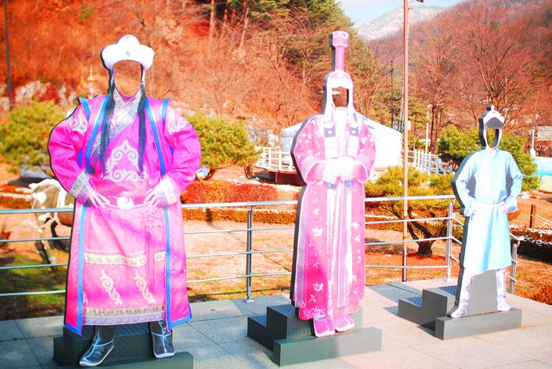 몽골 전통의상 포토존