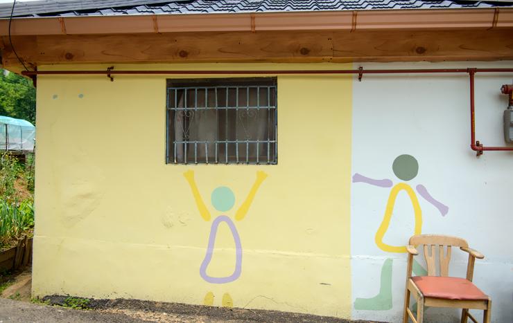 벽에 그려진 그림