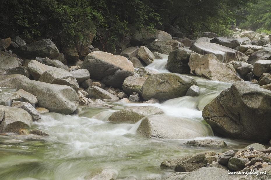 세차게 흐르는 물