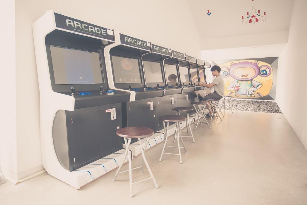 아날로그 게임 오락실 사진