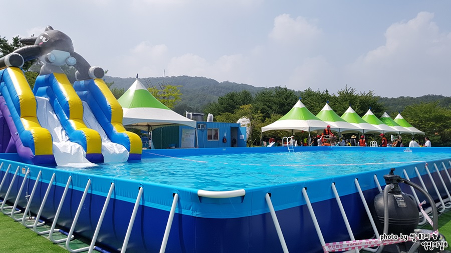 휴식시간의 수영장