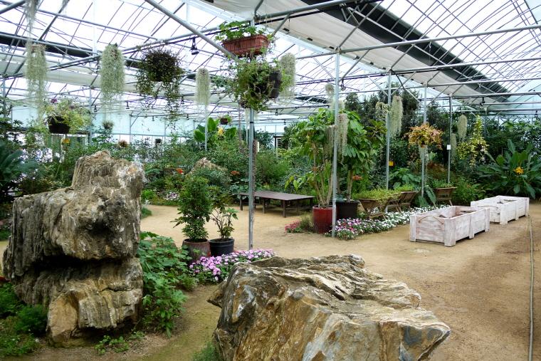 온실정원 내부 풍경