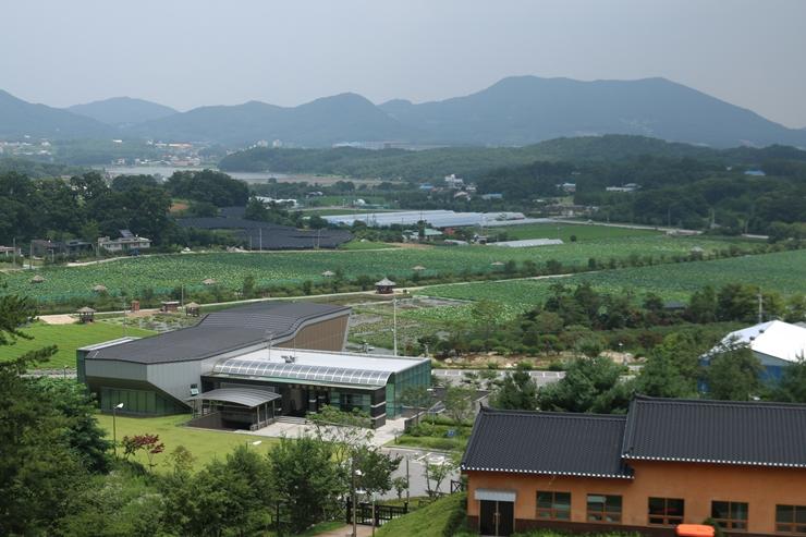높은 곳에서 바라본 마을 전경