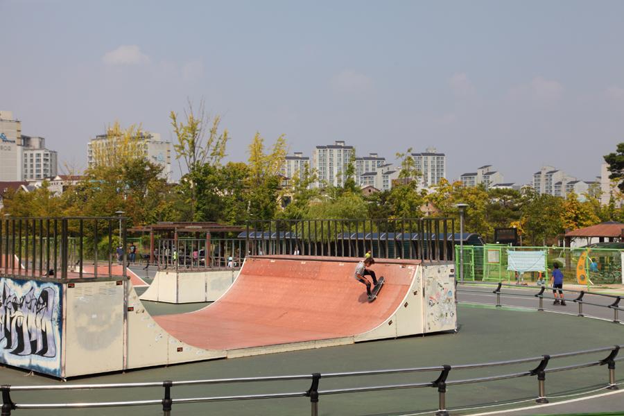 동탄센트럴파크 스케이트 놀이터