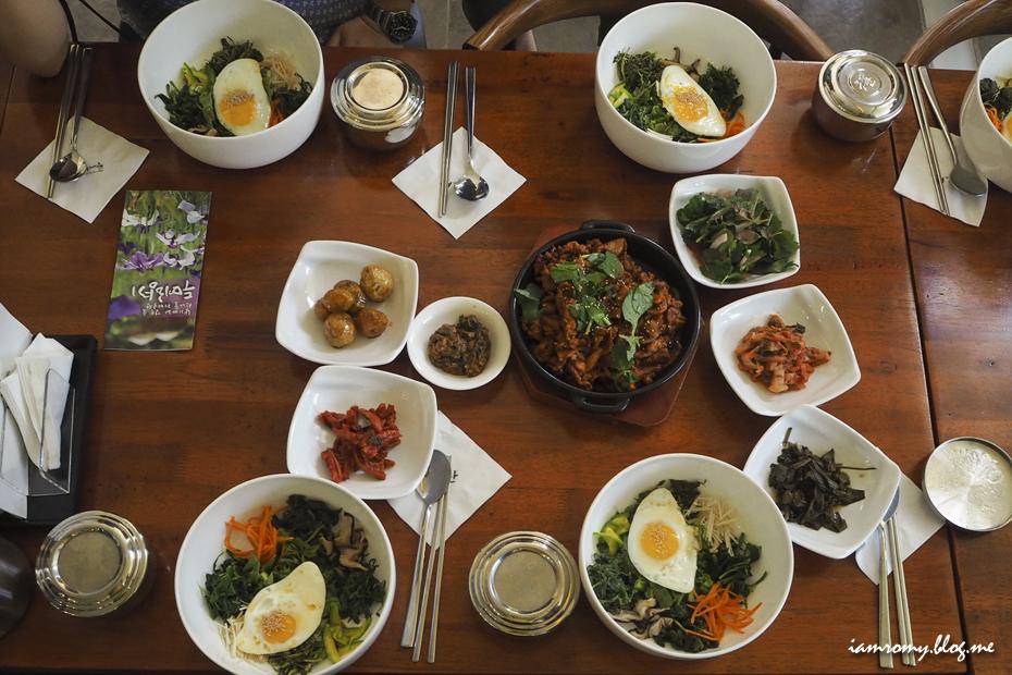 비빔밥 정식 사진