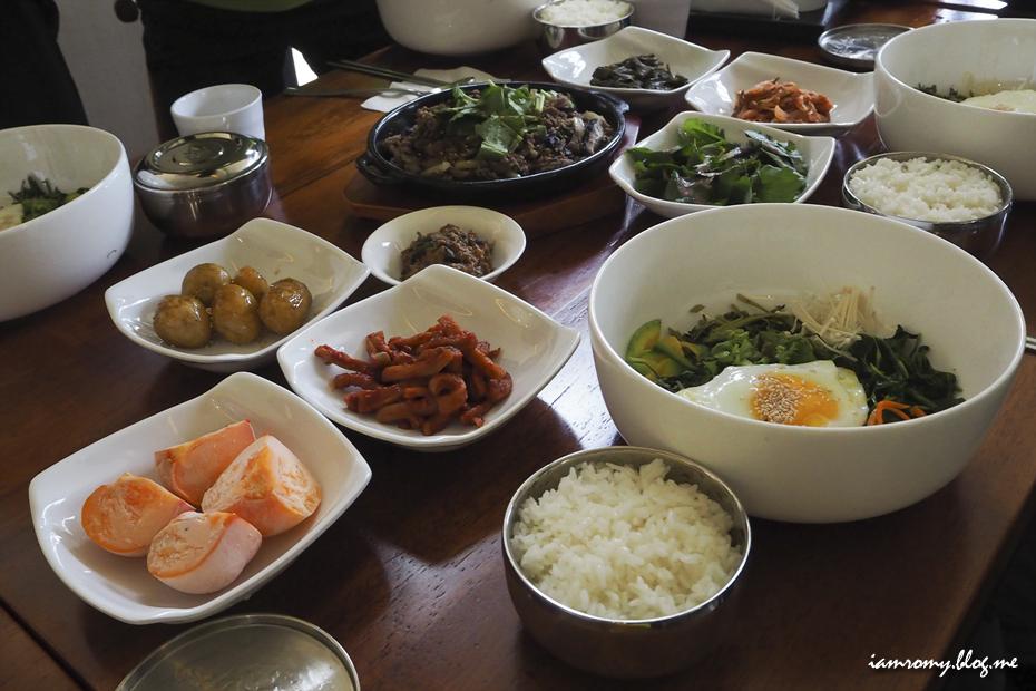 비빔밥 정식 한상