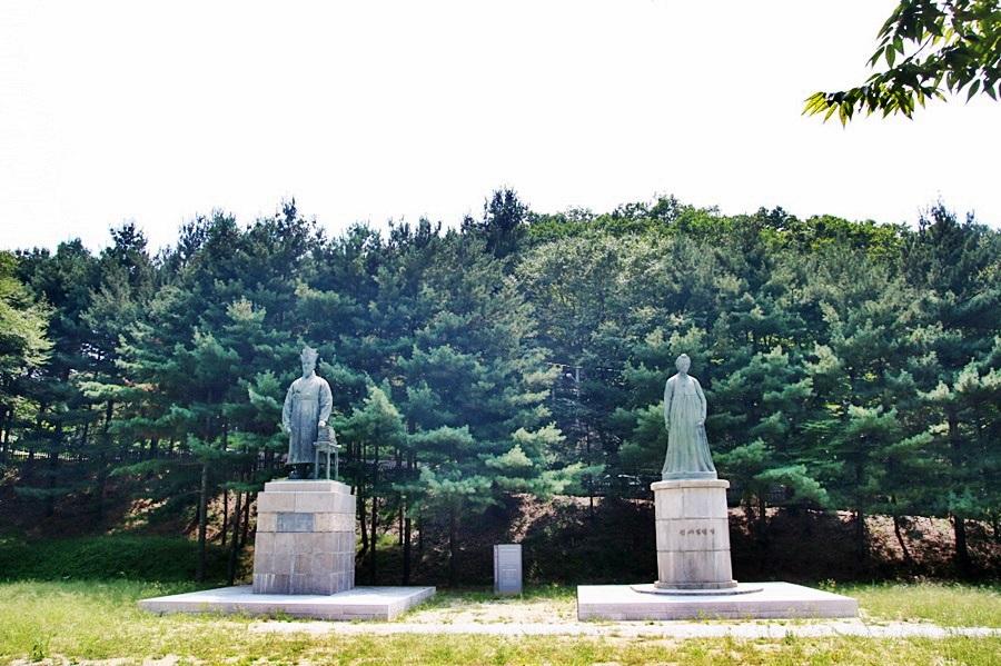 율곡이이와 신사임당 동상