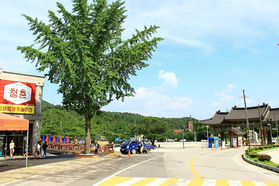 양평 용문산관광단지 앞 주차장