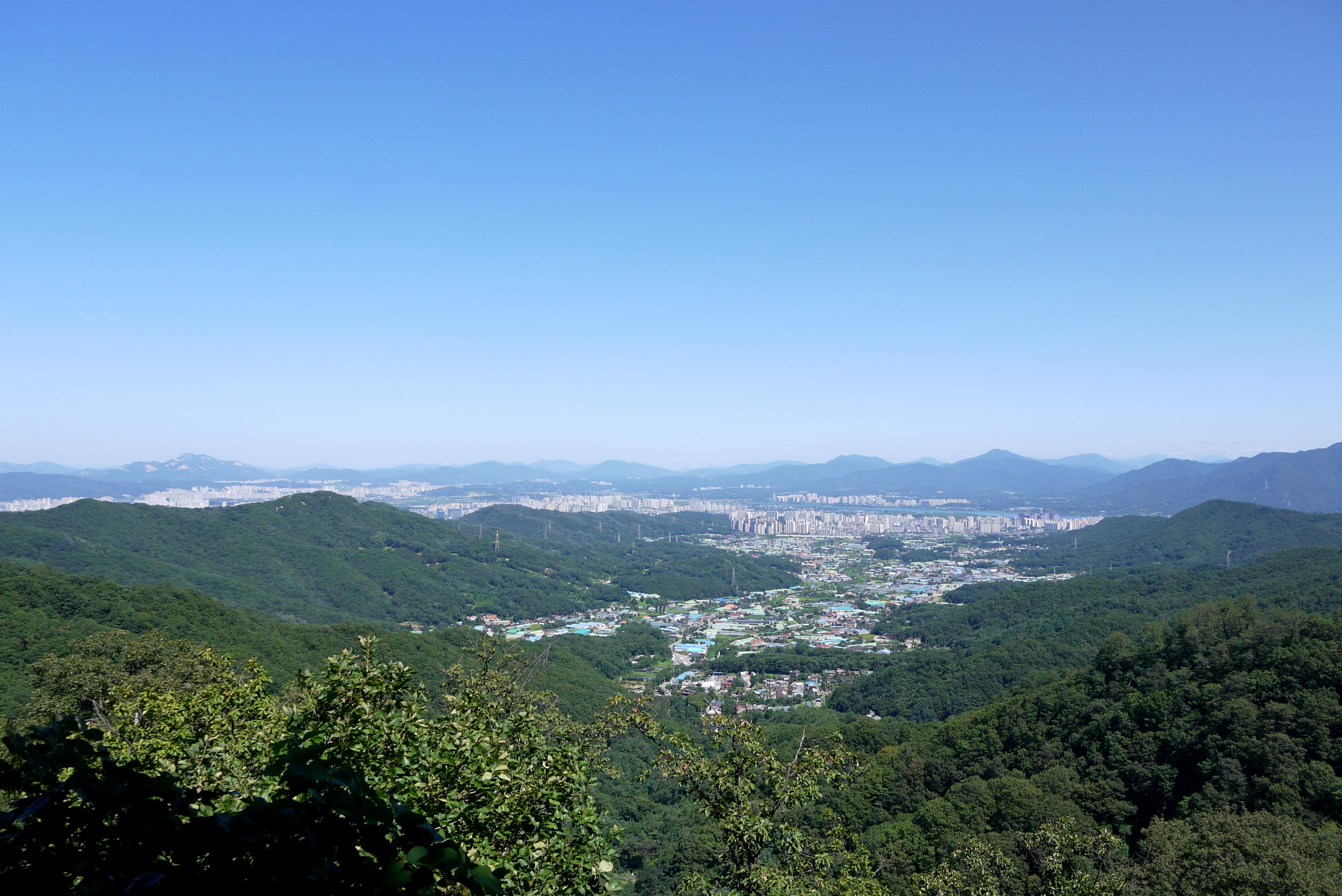 남한산성에서 내려다 본 하남시