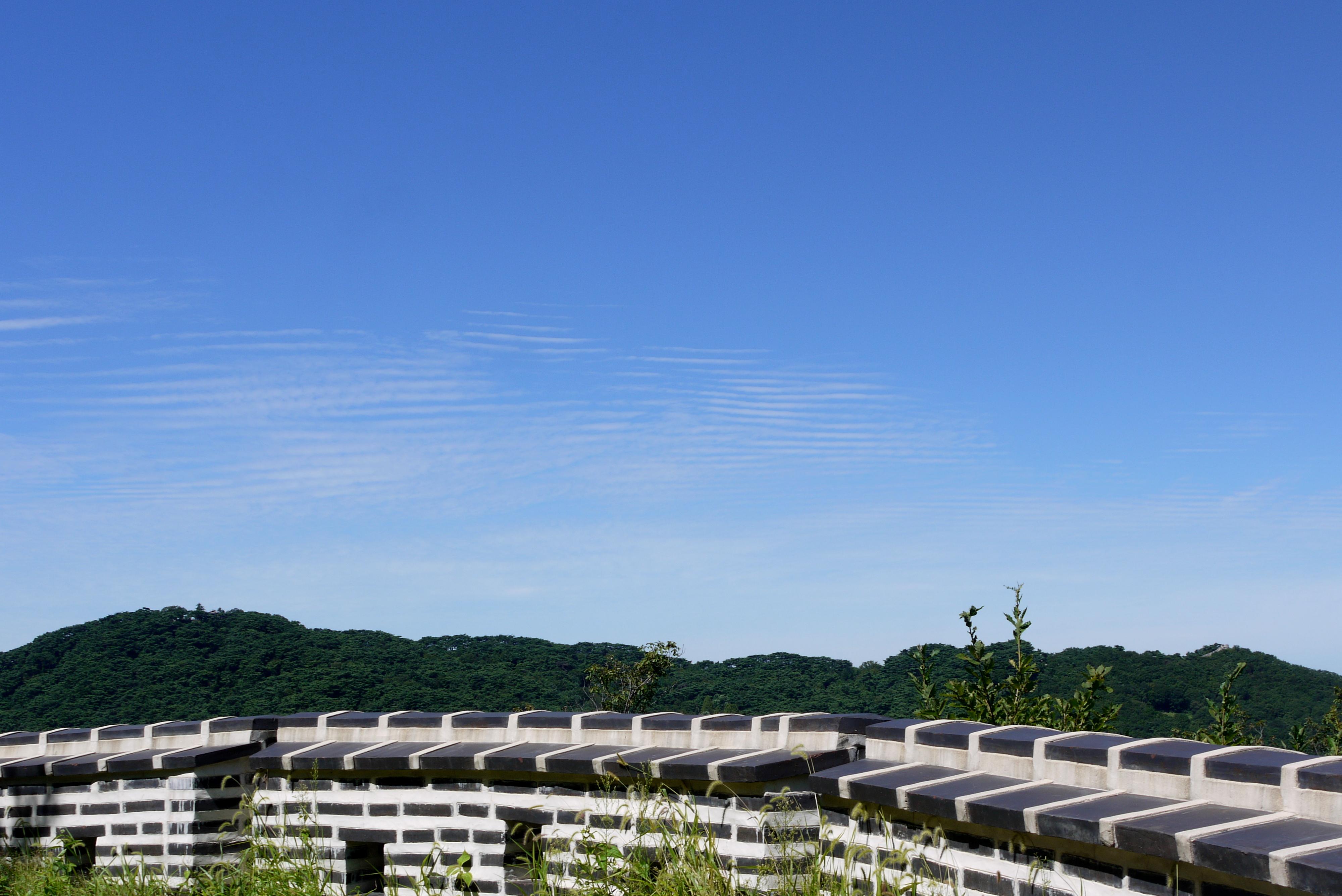 남한산성에서 바라본 하늘