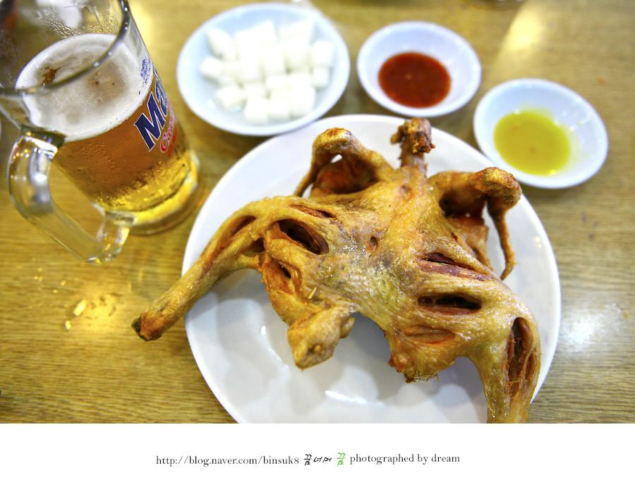 튀긴 닭 한마리