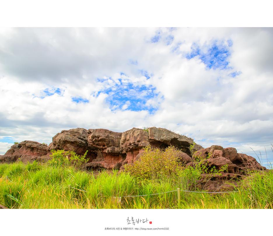 바위와 초원