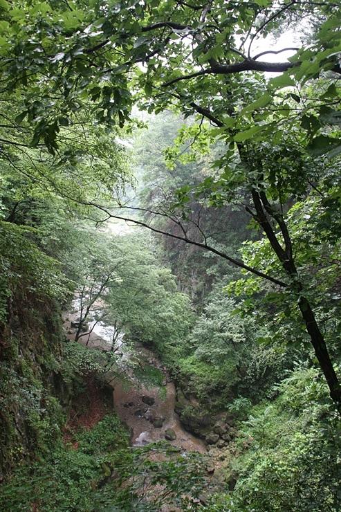 비둘기낭 폭포 가는길의 협곡