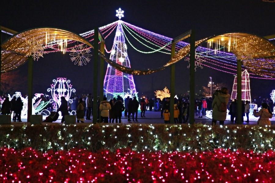 불빛축제와 사람들