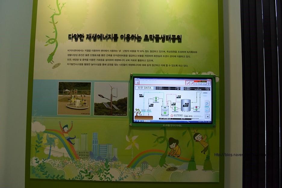 다양한 재생에너지를 이용하는 초막골생태공원 안내