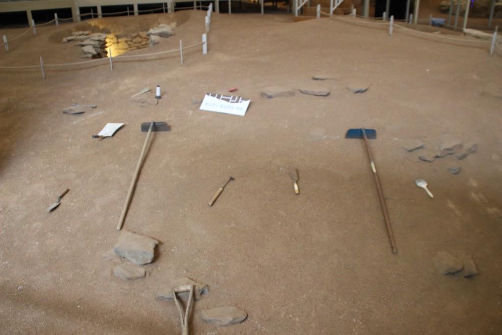 발굴 당시의 모습 재현한 모습