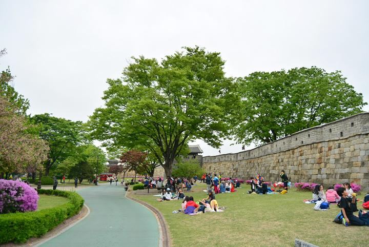 장안공원을 찾은 학생들