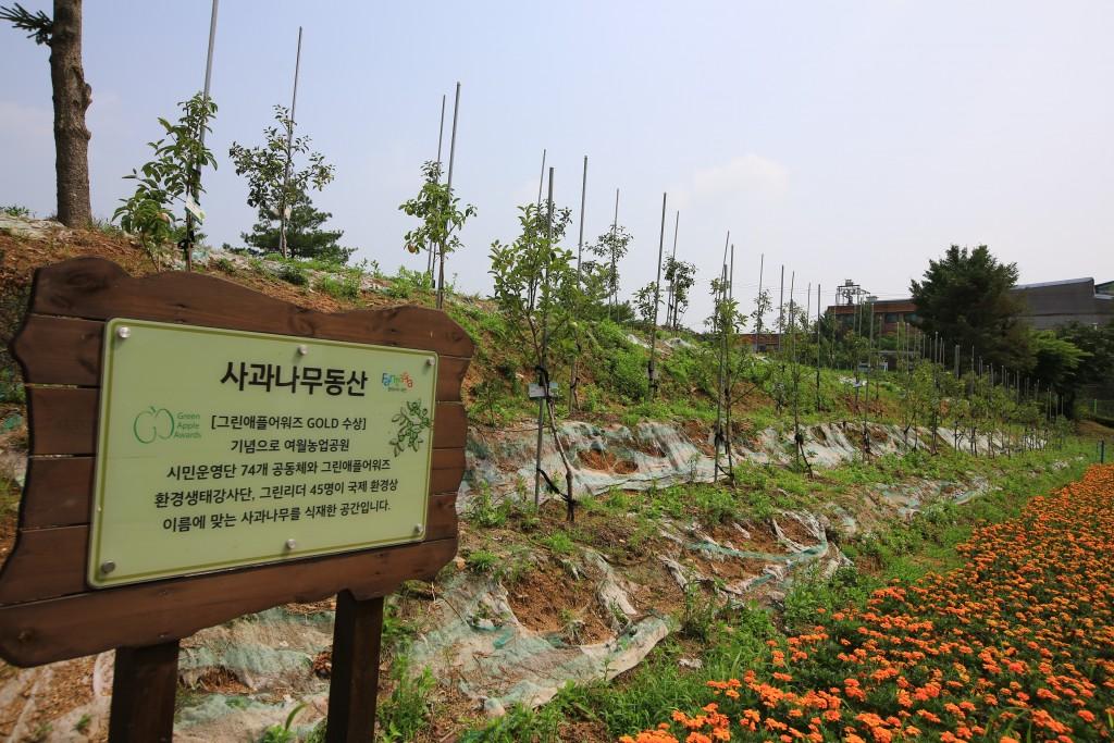 사과나무동산 표지판