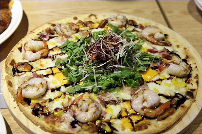 새우가 들어간 피자