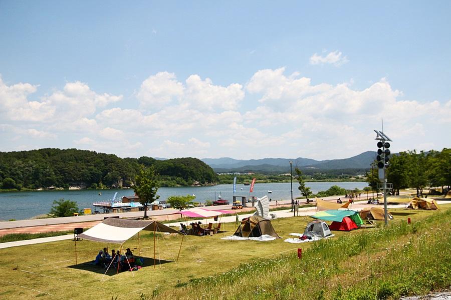캠핑장의 풍경
