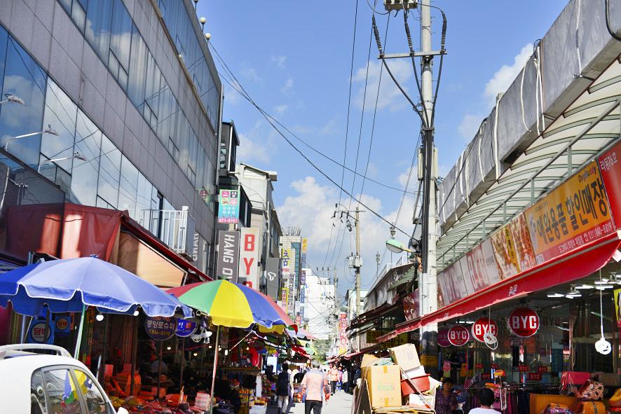 경기북부 최대 규모의 전통시장인 의정부 제일시장 가는 길