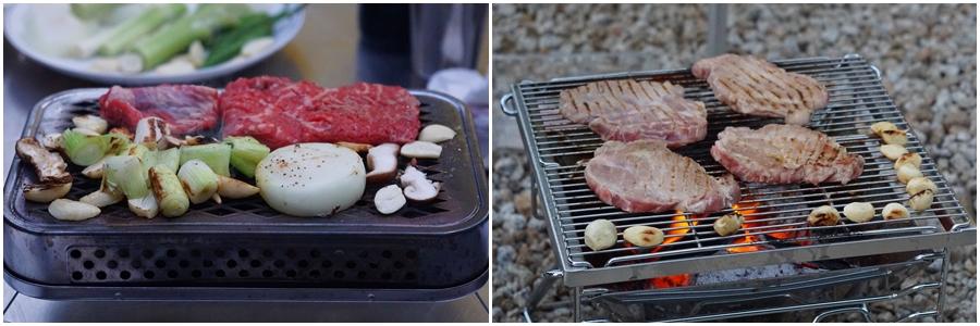 불판에 올려진 고기
