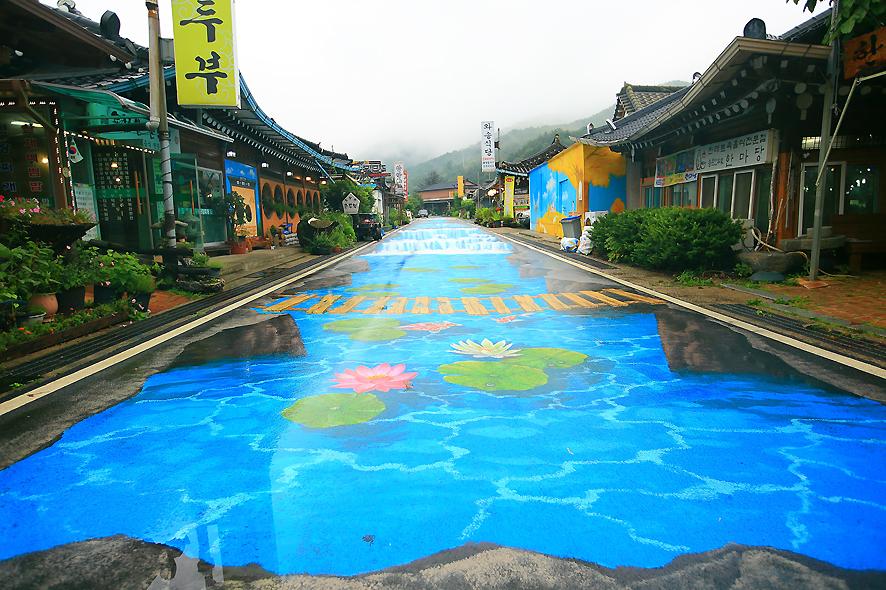 양평용문산벽화마을
