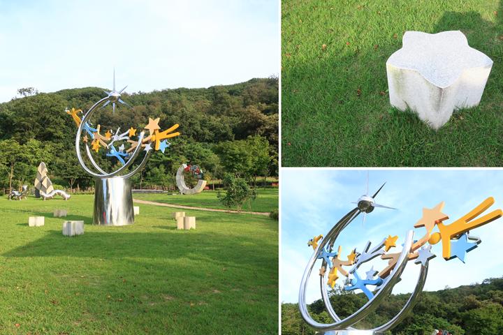 의왕시 갈미한글공원 조각전시장