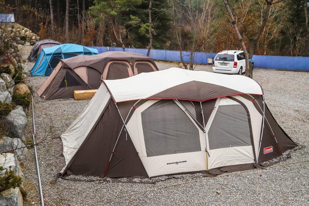 이야기오토캠핑장의 텐트