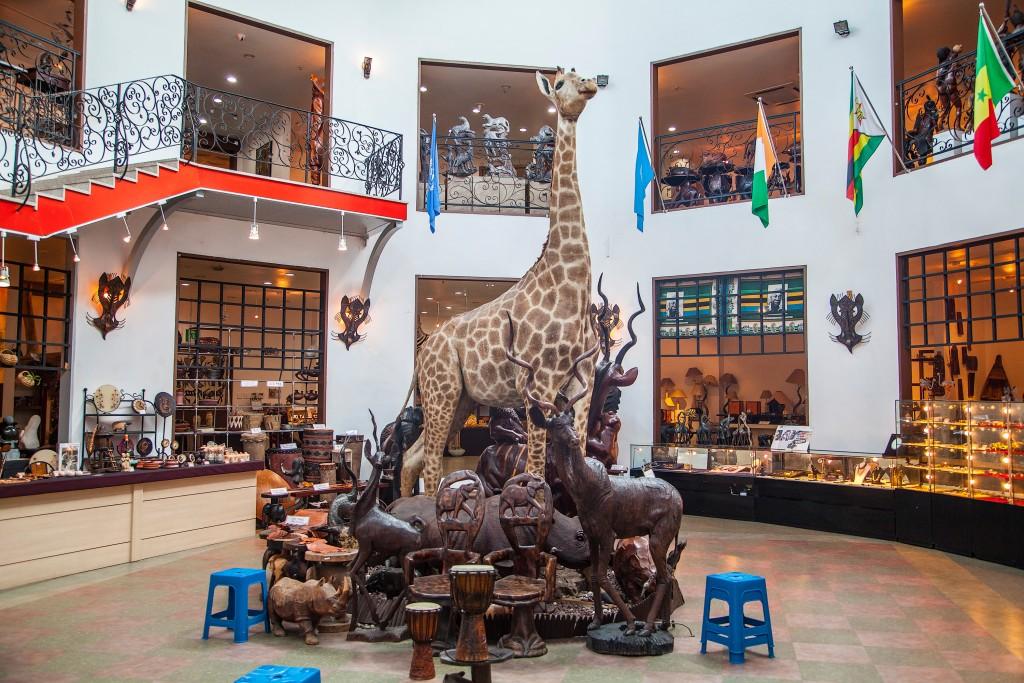 아프리카예술박물관 내부 모습