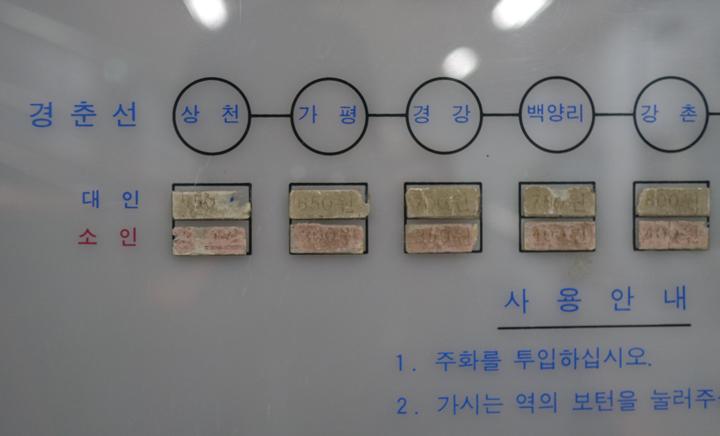 철도박물관 매표기 전시