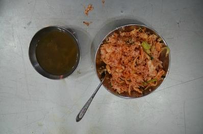 된장국과 산채비빔밥