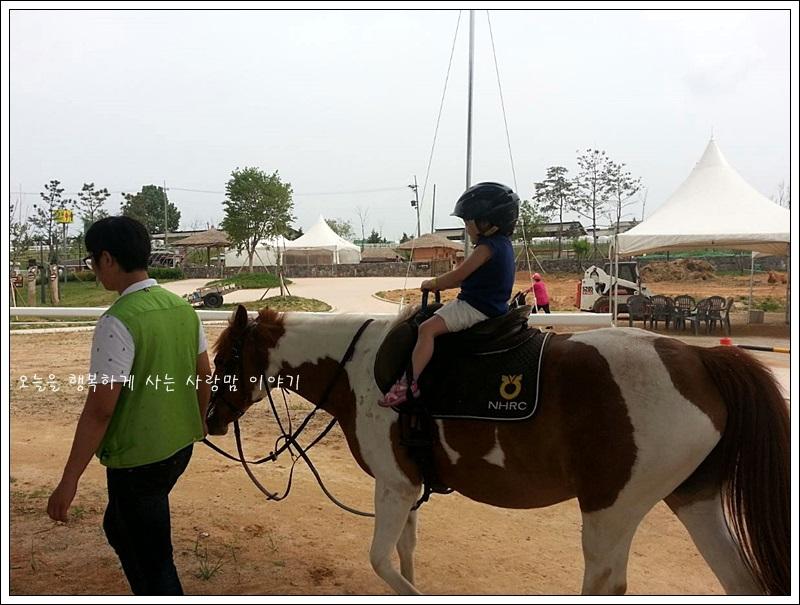 말을 타는 아이의 모습