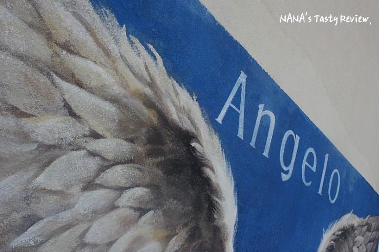 Angelo라고 쓰인 벽