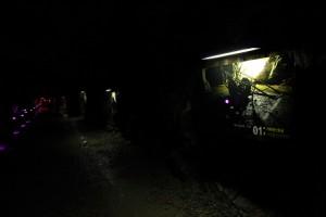 어두운 동굴 내부