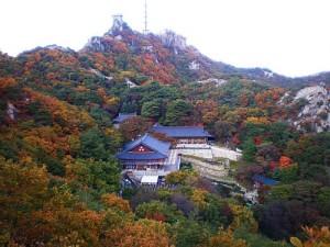 한 폭의 수채화 그림 같은 연주대의 절경, 과천 관악산