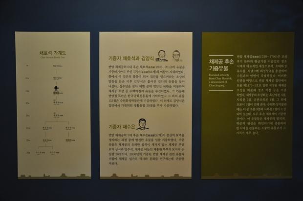 채제공 후손들 소개