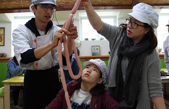 돼지박물관 소시지 체험