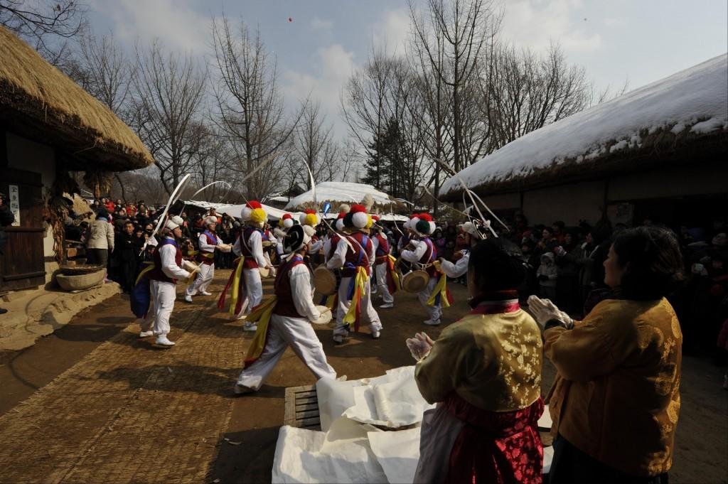 한국 민속촌 설맞이 복 잔치