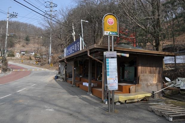 숭의전 앞 버스정류장