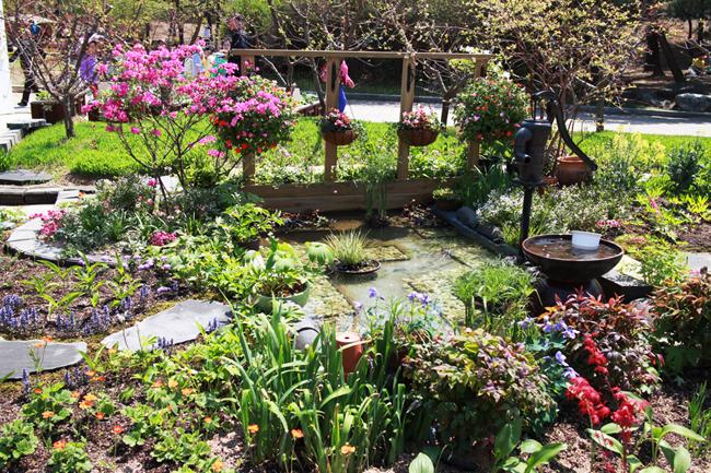 정원과 작두샘