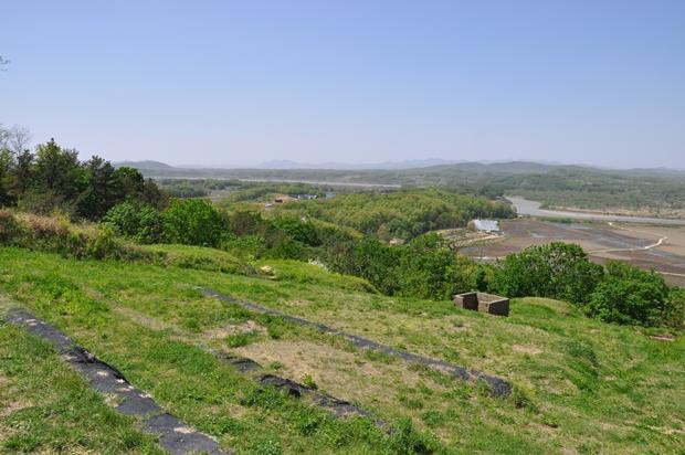 장산전망대 도라산 방향 전망