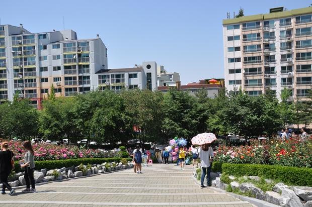 장미원 계단