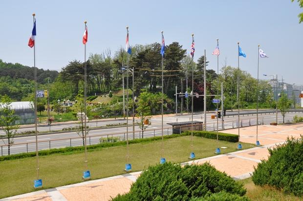 구 유엔군 초전기념비 방향