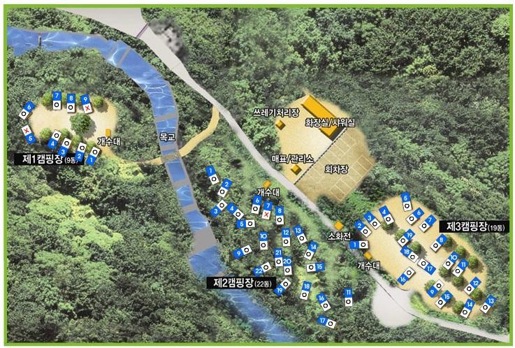 캠핑장 지도