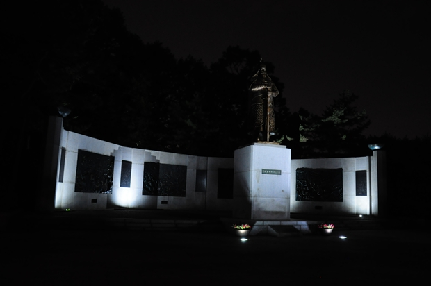 권율 도원수 동상 야경